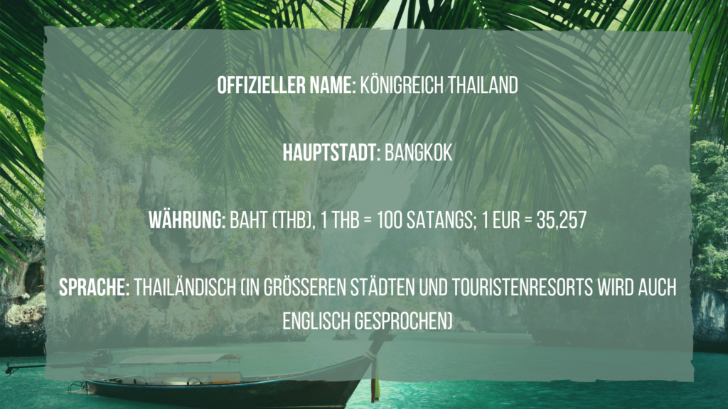Thailand Reiseplanung