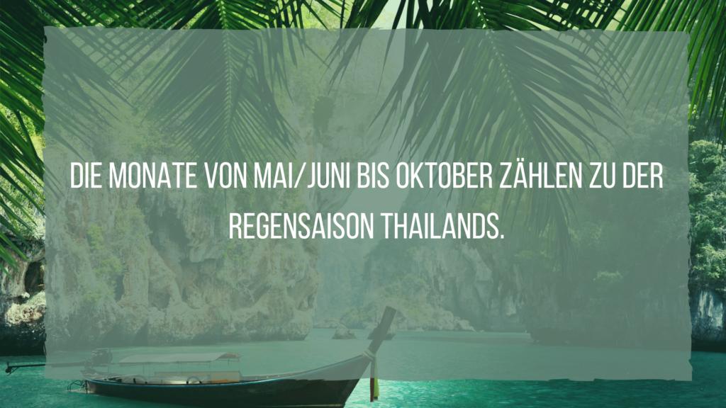regensaison Thailands